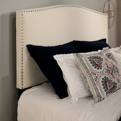 Newport Upholstered Panel Headboard Size: Full/Queen, Color: Ivory
