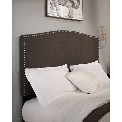 Newport Upholstered 2 Piece Panel Headboard and Bench Size: Queen/Full, Color: Gray