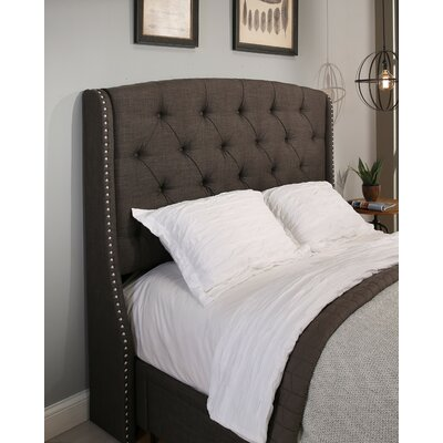 Peyton Upholstered Wingback Headboard and Bench Size: Queen/Full
