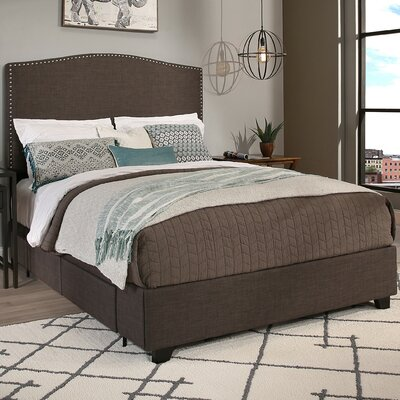 Newport Upholstered Storage Platform Bed Size: Eastern King, Upholstery: Dark Gray