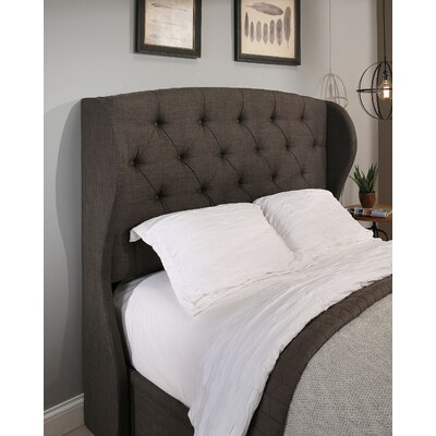 Archer Upholstered Wingback Headboard Size: King/California King