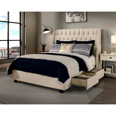 Cambridge Storage Platform Bed Size: Queen, Headboard Color: Ivory