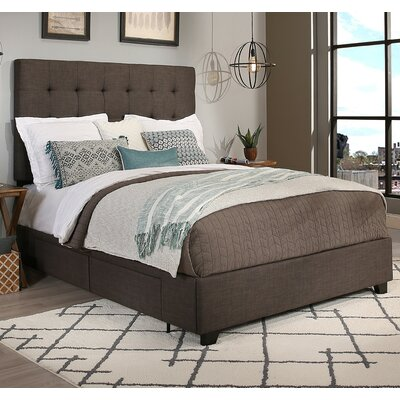 Manhattan Upholstered Panel Bed Size: Queen