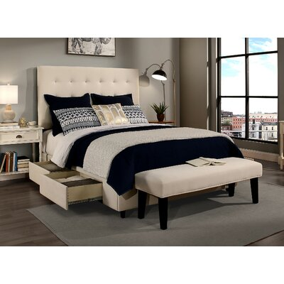 Manhattan Upholstered Panel Headboard and Bench Size: Full/Queen