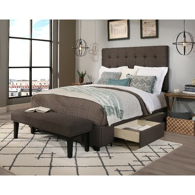 Manhattan Upholstered Panel Headboard and Bench Size: California King/Eastern King