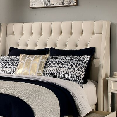Cambridge Upholstered Wingback Headboard and Bench Size: Eastern/California King