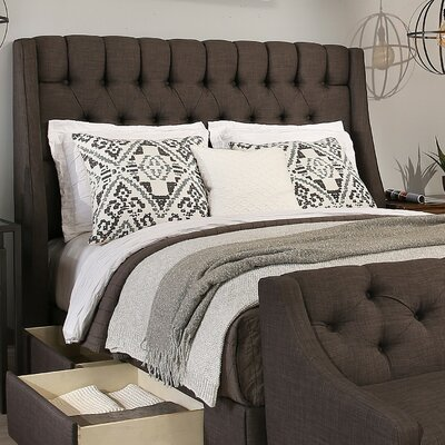 Cambridge Upholstered Wingback Headboard Size: Queen/Full