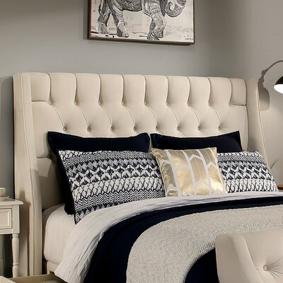 Cambridge Upholstered Wingback Headboard and Bench Size: Queen/Full