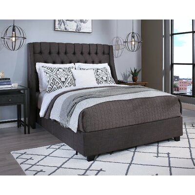 Cambridge Storage Platform Bed Size: King, Headboard Color: Grey