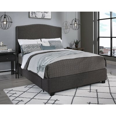 Newport Upholstered Storage Platform Bed Size: Queen, Color: Dark Gray