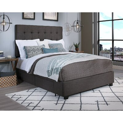 Manhattan Upholstered Platform Bed Size: Queen