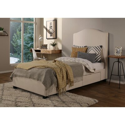 Ariane Twin Upholstered Storage Panel Bed Type: 2 Drawer Storage
