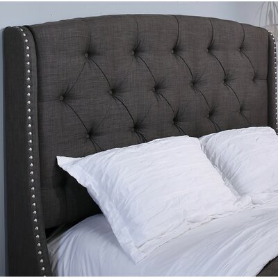 Chenery Upholstered Wingback Headboard Size: Easten King/Cal King, Upholstery: Gray