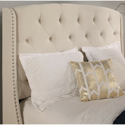 Chenery Upholstered Wingback Headboard Size: Queen/Full, Upholstery: Ivory