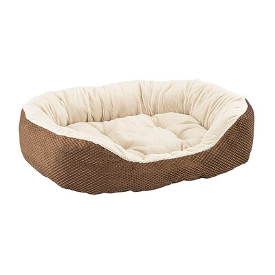 Checkerboard Snapper Dog Bed Color: Chocolate, Size: 7 H x 26 W x 31 D