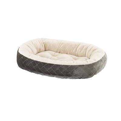 Quilted Oval Cuddler Dog Bed Color: Light Grey