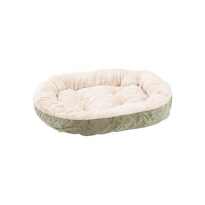 Quilted Oval Cuddler Dog Bed Color: Sage
