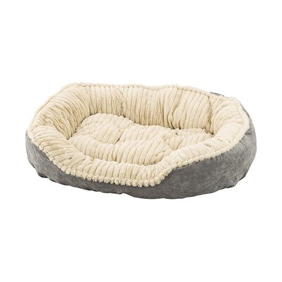 Carved Plush Dog Bed Color: Gray, Size: 9 H x 25 W x 32 D