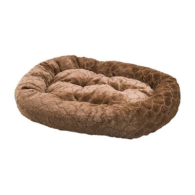 Diamond Cut Dog Bed Color: Chocolate