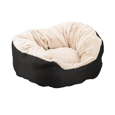 Basket Weave Cuddler Dog Bed Color: Black