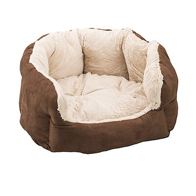 Reversible Cushion Dog Bed Color: Chocolate