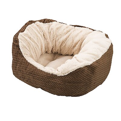 Basket Weave Cuddler Dog Bed Color: Chocolate