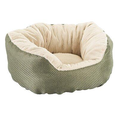Basket Weave Cuddler Dog Bed Color: Sage