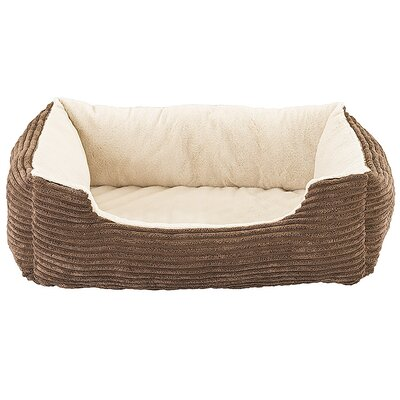 Corduroy Orthopedic Cuddler Dog Bed Color: Chocolate