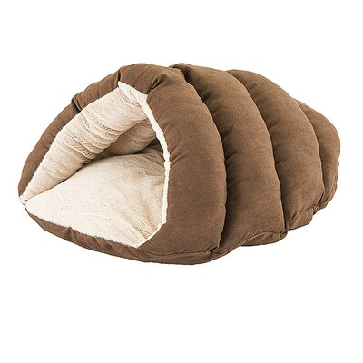 Cuddler Cave Hooded Dog Bed Color: Chocolate