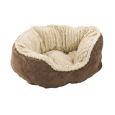 Carved Plush Dog Bed Color: Chocolate, Size: 7 H x 21 W x 26 D