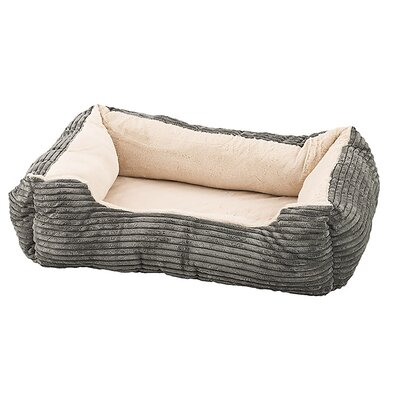 Corduroy Orthopedic Cuddler Dog Bed Color: Deep Gray