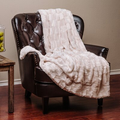 Britten Super Soft Cozy Sherpa Fuzzy Fur Warm Throw Blanket Color: Ivory Cr�me