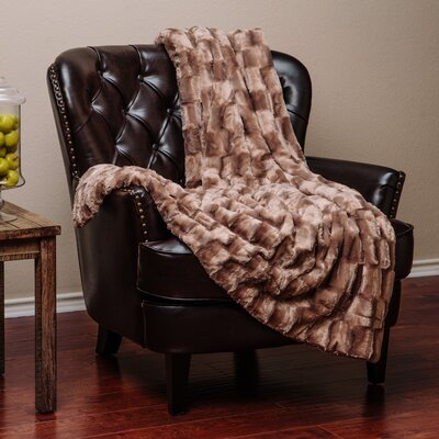 Britten Super Soft Cozy Sherpa Fuzzy Fur Warm Throw Blanket Color: Brown
