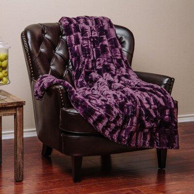 Britten Super Soft Cozy Sherpa Fuzzy Fur Warm Throw Blanket Color: Aubergine Dark