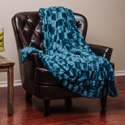 Super Soft Cozy Sherpa Fuzzy Fur Warm Throw Blanket Color: Blue