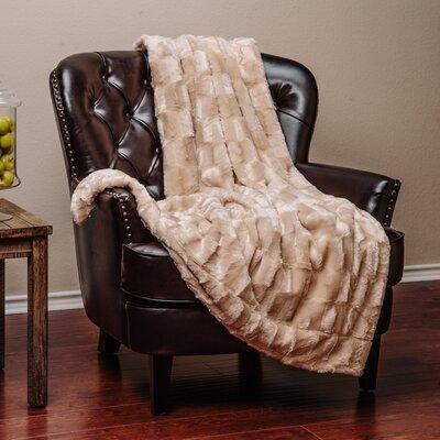 Britten Super Soft Cozy Sherpa Fuzzy Fur Warm Throw Blanket Color: Beige