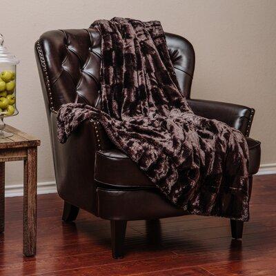 Britten Super Soft Cozy Sherpa Fuzzy Fur Warm Throw Blanket Color: Chocolate
