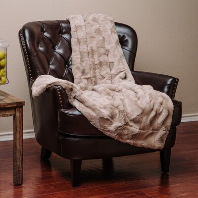 Super Soft Warm Elegent Waivey Pattern Cozy Sherpa Throw Blanket Color: Natural