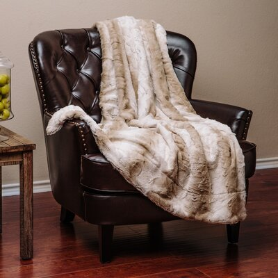 Falling Leaf Throw Blanket Size: 92L x 85W, Color: Brown
