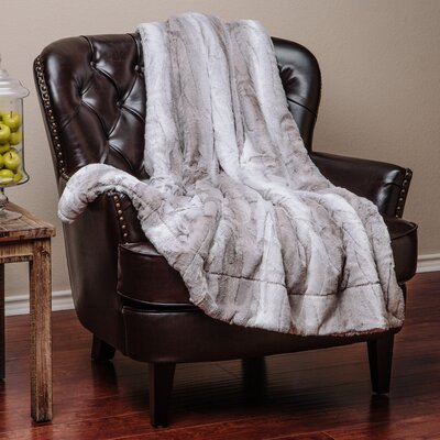 Falling Leaf Throw Blanket Color: Gray, Size: 70L x 60W