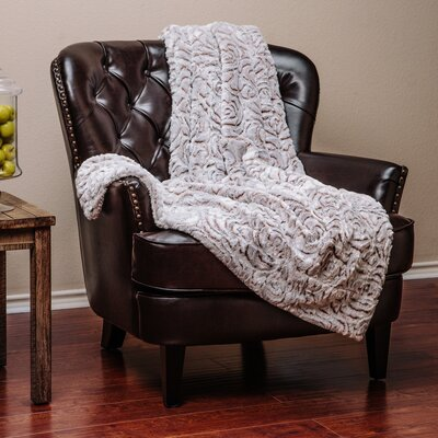 Super Soft Cozy Flower Shape Embossed Beige Creme White Gray Fuzzy Fur Warm Throw Blanket
