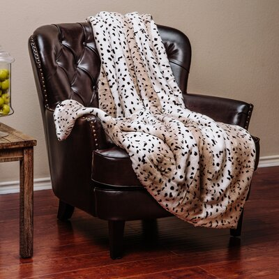 Leopard Print Super Soft Cozy Sherpa Throw Blanket