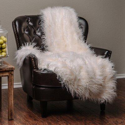 Mangolian Soft Shaggy Faux Fur Throw Blanket
