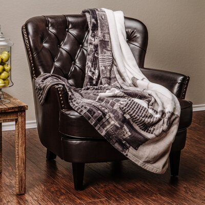Super Soft New York City Print Throw Blanket