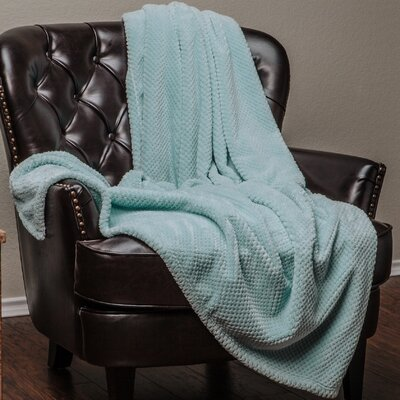 Super Soft Warm Elegant Cozy and Decorative Velvet Fleece Throw Blanket Color: Turquoise