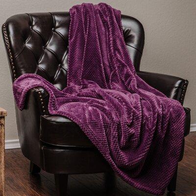 Super Soft Warm Elegant Cozy and Decorative Velvet Fleece Throw Blanket Color: Aubergine