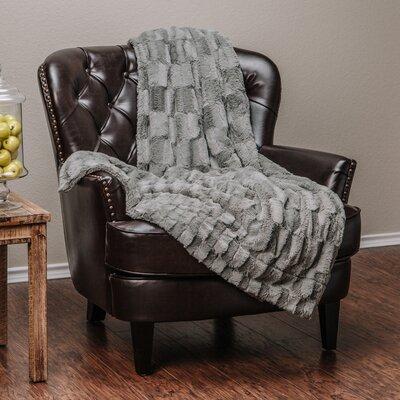 Super Soft Cozy Sherpa Fuzzy Fur Warm Throw Blanket Color: Gray