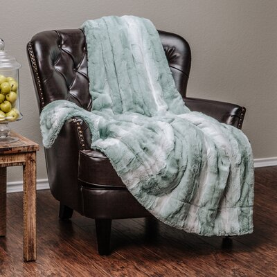 Falling Leaf Throw Blanket Color: Turquoise, Size: 92L x 85W