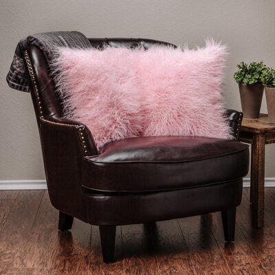 Throw Pillow Case (Set of 2) Color: Pink