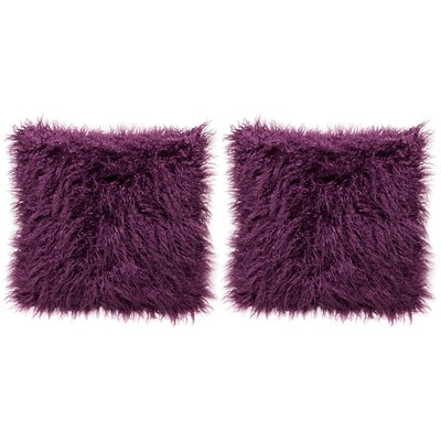 Throw Pillow Case (Set of 2) Color: Aubergine